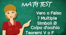 Test di matematica di vario tipo