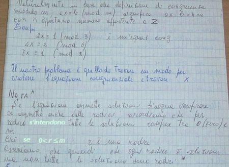Equazioni congruenziali