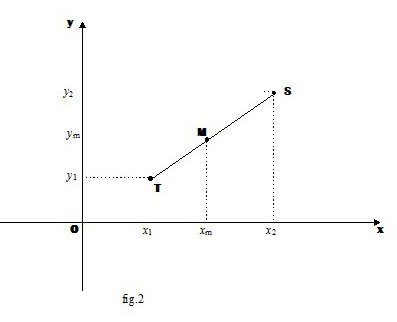 Punto medio di un segmento. Punto che divide un segmento in un dato rapporto.