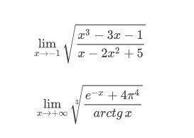 Limiti di funzioni irrazionali