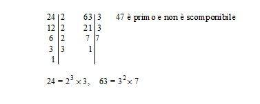 Scomposizione in fattori di un numero minimo comune multiplo e massimo comune divisore
